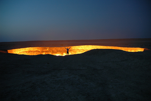 Darvaza gas crater por my new office.