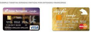 tarjeta dorada Renfe-entidades financieras