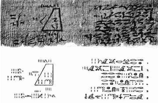 Números egipcios Papiro de Moscú