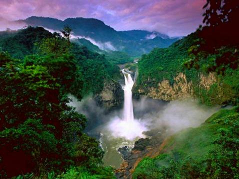 mapa físico de américa -ecuador-amazonas-rio-quijos-cascadas-san-rafael_thumb