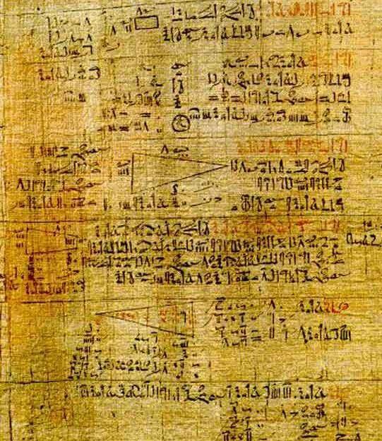 Números egipcios - papiro de Rhind