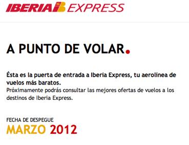 Iberia Express rutas